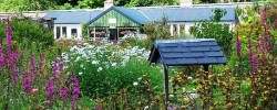 A view of the restaurant from the Walled Garden at Applecross