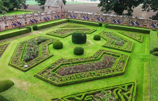 Walled Gardens at Edzell Castle