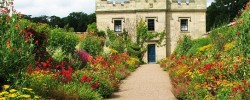 The hot border at Floors Castle Gardens