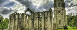 Fountains Abbey Gardens in Yorkshire