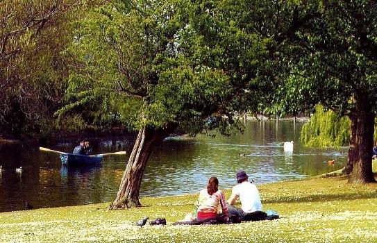Relaxing in Regents Park